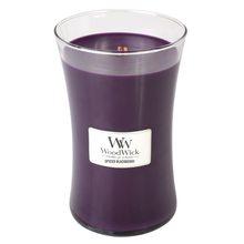 WoodWick Svíčka oválná váza WoodWick Pikantní ostružina, 609.5 g