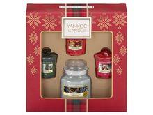 Yankee candle Dárková sada Christmas Yankee Candle 3 KS votivních vonných svíček + 1 KS malá vonná svíčka Yankee Candle 2019