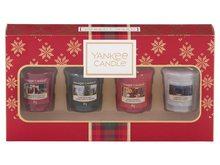 Yankee candle Dárková sada Christmas Yankee Candle 4 KS votivních vonných svíček 2019