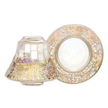 Yankee candle Dárková sada Yankee Candle Malý talířek + stínítko, perleťově-zlatá mozaika