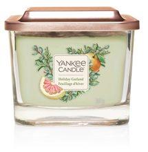 Yankee candle Elevation sklo střední 3 knoty Holiday Garland