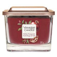 Yankee candle Elevation sklo střední 3 knoty Holiday Pomegranate