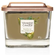 Yankee candle Elevation sklo střední 3 knoty Pear & Tea Leaf