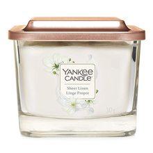 Yankee candle Elevation sklo střední 3 knoty Sheer Linen