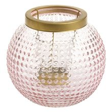Yankee candle Lucerna Yankee Candle Pastel Romance, růžovo-zlatá