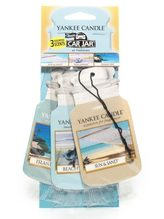Yankee candle Osvěžovač do auta Yankee Candle BEACH VACATION 3x papírová vi