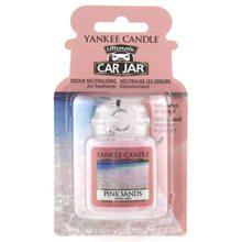 Yankee candle Osvěžovač do auta Yankee Candle Růžové písky, 1x visačka