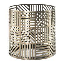 Yankee candle Svícen kovový Yankee Candle Crosshatch Brass, výška 8 cm