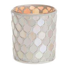 Yankee candle Svícen skleněný Yankee Candle Šampaňská perleť, průměr 7 cm