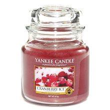 Yankee candle Svíčka ve skleněné dóze Yankee Candle Brusinky na ledu, 410 g