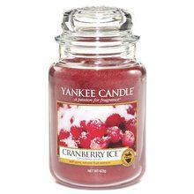 Yankee candle Svíčka ve skleněné dóze Yankee Candle Brusinky na ledu, 623 g