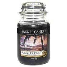Yankee candle Svíčka ve skleněné dóze Yankee Candle Černý kokos, 623 g