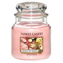 Yankee candle Svíčka ve skleněné dóze Yankee Candle Čerstvě nařezané růže, 410 g