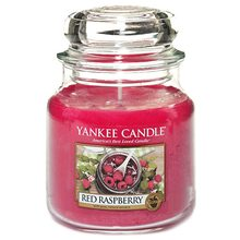Yankee candle Svíčka ve skleněné dóze Yankee Candle Červená malina, 410 g
