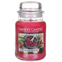 Yankee candle Svíčka ve skleněné dóze Yankee Candle Červená malina, 623 g