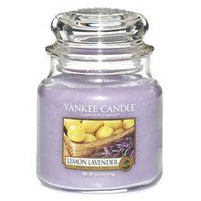 Yankee candle Svíčka ve skleněné dóze Yankee Candle Citrón a levandule, 410 g