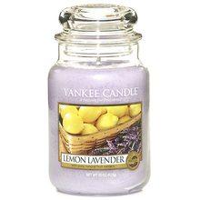 Yankee candle Svíčka ve skleněné dóze Yankee Candle Citrón a levandule, 623 g