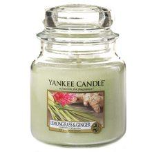 Yankee candle Svíčka ve skleněné dóze Yankee Candle Citrónová tráva a zázvor, 410 g