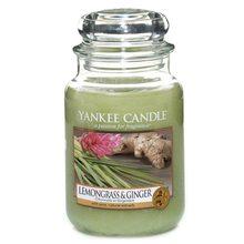 Yankee candle Svíčka ve skleněné dóze Yankee Candle Citrónová tráva a zázvor, 623 g