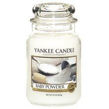 Yankee candle Svíčka ve skleněné dóze Yankee Candle Dětský pudr, 623 g