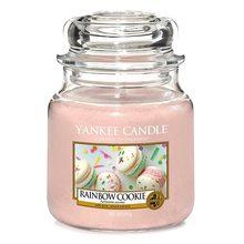 Yankee candle Svíčka ve skleněné dóze Yankee Candle Duhové makronky, 410 g
