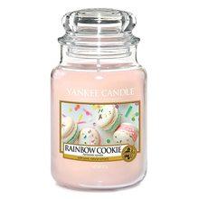 Yankee candle Svíčka ve skleněné dóze Yankee Candle Duhové makronky, 623 g
