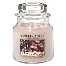 Yankee candle Svíčka ve skleněné dóze Yankee Candle Eben a dub, 410 g