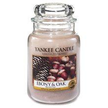 Yankee candle Svíčka ve skleněné dóze Yankee Candle Eben a dub, 623 g