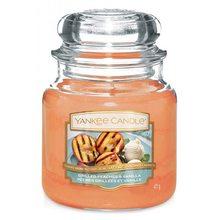 Yankee candle Svíčka ve skleněné dóze Yankee Candle Grilované broskve a vanilka, 410 g