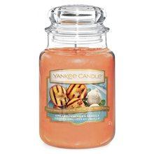 Yankee candle Svíčka ve skleněné dóze Yankee Candle Grilované broskve a vanilka, 623 g