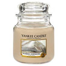 Yankee candle Svíčka ve skleněné dóze Yankee Candle Hřejivý kašmír, 410 g