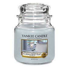 Yankee candle Svíčka ve skleněné dóze Yankee Candle Klidné a tiché místo, 410 g