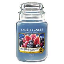 Yankee candle Svíčka ve skleněné dóze Yankee Candle Lahodné moruše a fíky, 623 g