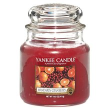 Yankee candle Svíčka ve skleněné dóze Yankee Candle Mandarinky s brusinkami, 410 g