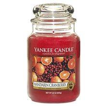 Yankee candle Svíčka ve skleněné dóze Yankee Candle Mandarinky s brusinkami, 623 g