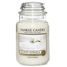 Yankee candle Svíčka ve skleněné dóze Yankee Candle Načechrané ručníky, 623 g