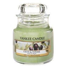 Yankee candle Svíčka ve skleněné dóze Yankee Candle Olivy a tymián, 104 g