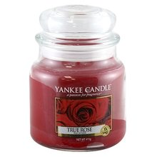 Yankee candle Svíčka ve skleněné dóze Yankee Candle Opravdová růže, 410 g