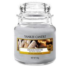 Yankee candle Svíčka ve skleněné dóze Yankee Candle Praskající oheň, 104 g