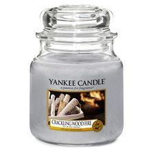 Yankee candle Svíčka ve skleněné dóze Yankee Candle Praskající oheň, 410 g