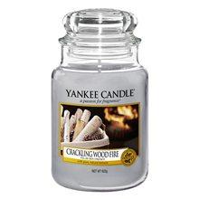 Yankee candle Svíčka ve skleněné dóze Yankee Candle Praskající oheň, 623 g