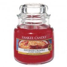 Yankee candle Svíčka ve skleněné dóze Yankee Candle Rebarborový crumble, 104 g