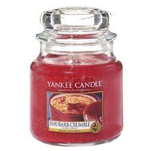 Yankee candle Svíčka ve skleněné dóze Yankee Candle Rebarborový crumble, 410 g