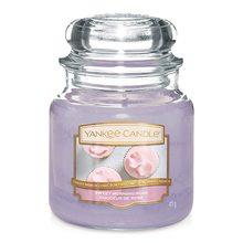 Yankee candle Svíčka ve skleněné dóze Yankee Candle Sladká ranní růže, 410 g