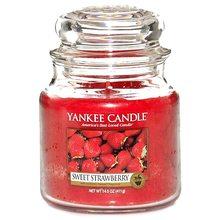 Yankee candle Svíčka ve skleněné dóze Yankee Candle Sladké jahody, 410 g