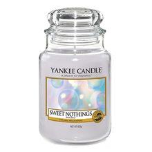 Yankee candle Svíčka ve skleněné dóze Yankee Candle Sladké nic, 623 g Sweet Nothings