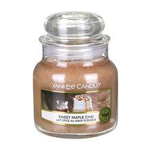 Yankee candle Svíčka ve skleněné dóze Yankee Candle Sladký javorový chai, 104 g