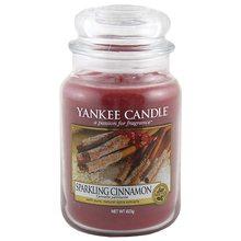 Yankee candle Svíčka ve skleněné dóze Yankee Candle Třpytivá skořice, 623 g