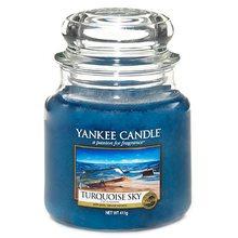 Yankee candle Svíčka ve skleněné dóze Yankee Candle Tyrkysová obloha, 410 g