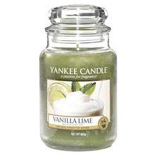 Yankee candle Svíčka ve skleněné dóze Yankee Candle Vanilka s limetkami, 623 g